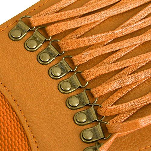 Elastic Fashion up Dress Brown High Lace Belt Killreal Women's Waist Belt Vintage 1q6g64