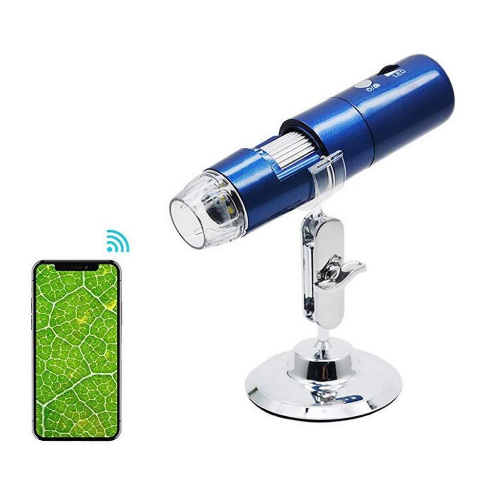 ZSS Microscopio Digital Inalámbrico, 1000X Microscopio Ampliación con Cámara 1080P HD 1080P Cámara De 2MP, Mini Bolsillo Mano Cámara De Microscopio con Luz LED f11412