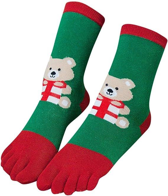 Zehensocken Damen F/ünf Finger Socken aus Baumwolle atmungsaktive und bunte Socken 4//5 Paare Damen Sneaker Socken mit Zehen f/ür Sport Laufende Freizeit