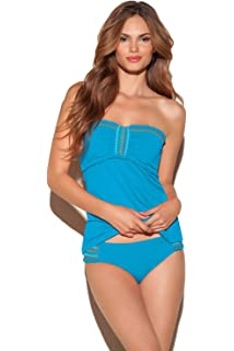 2b79e606ee233 Lucky Brand Women's Primitive Punch Halter Tankini Top Cassis M at ...