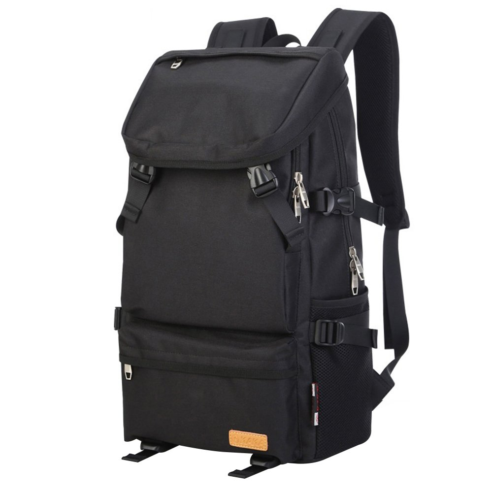 guoainn韓国スタイル大容量バックパックファッション旅行バッグトレンドレジャーバックパック – ブラック  ブラック B07G5YGVBL