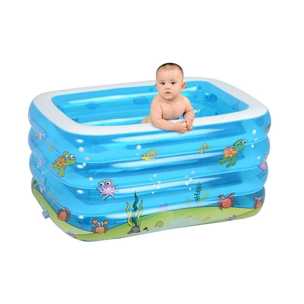 LYM & bañera Plegable Doble la Piscina Inflable del niño de la ...