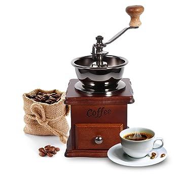 Amazon.com: Coffee Grinder, 1Pcs Retro Design Coffee Bean ...