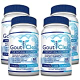 GoutClear: Fast & Effective Solution to Gout (Maximum Strength 4 bottles)