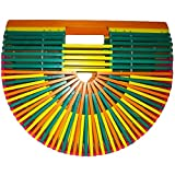 Summer Beach Bamboo Handbag Bag Colorful