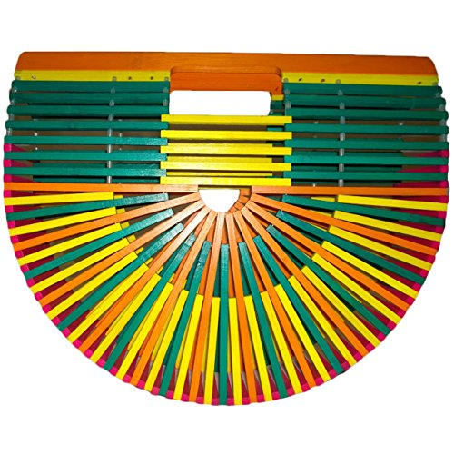 Summer Beach Bamboo Handbag Bag Colorful by Dadudag