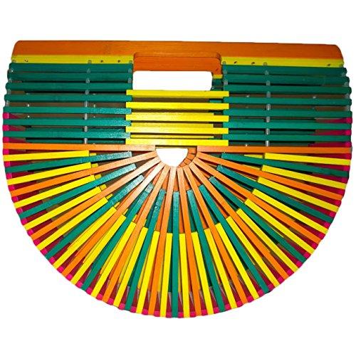 Summer Beach Bamboo Handbag Bag Colorful