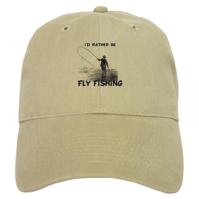 add9278f6fdec Amazon.com  CafePress - Fly Fishing - Baseball Cap with Adjustable ...