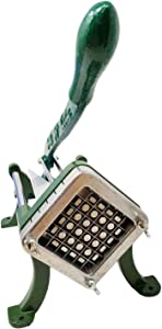 Stainless Steel French Fry Cutter Chipper for Deep Fat and Air Fryer with Extended Handle, Super Sharp Blade for Cutting Potatoes, Sweet Potatoes, Zucchini, Carrots, Cucumbers, Jicama