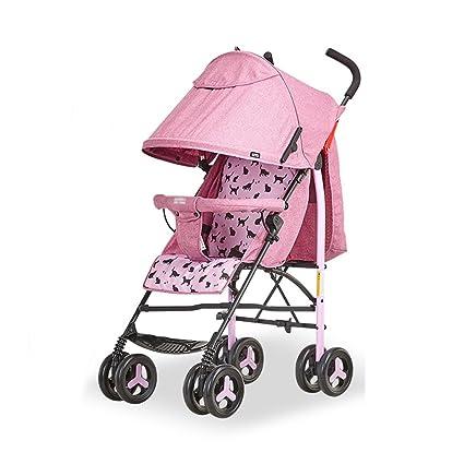 Cochecitos de bebé plegable plegable muy fácil paraguas de bebé plegable portátil coche redondo cuatro,