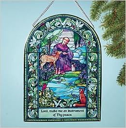Saint Francis window suncatcher