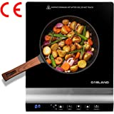 GASLAND Chef IH20BL Induction Cooker, 2000W Cooktop Electric Hob 240℃ with Touch Control Ceramic Plate in Black