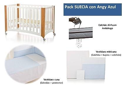 Bolin Bolon Pack Cuna-minicuna colecho SUECIA completa ANGY AZUL