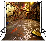 Ouyida Graffiti space 10'x 10' CP Photography Background Computer-Printed Vinyl Backdrop TA25