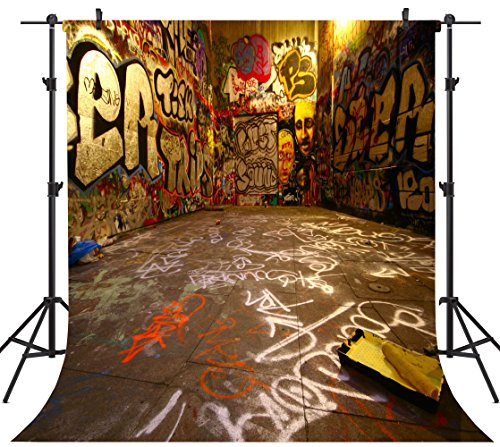 (OUYIDA Graffiti Space 10X10FT Seamless Pictorial Cloth Customized Photography Backdrop Background Studio Prop)