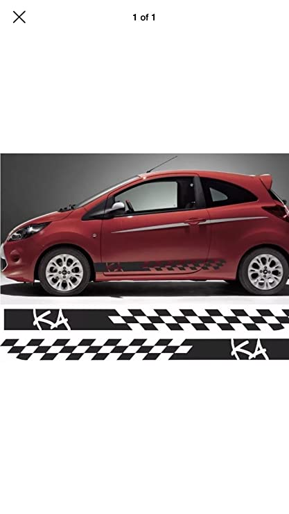 Ford Ka Custom Design Side Stripes Graphics Decals Stickers Vinyls Any Colours Amazon Co Uk Car Motorbike