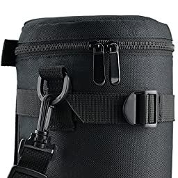 JW DLP-6 Deluxe Lens Pouch for CANON ZOOM LENS EF 100-400mm 1:4.5-5.6L IS ULTRASONIC EF 70-200mm / NIKON AF NIKKOR 80-200mm + JW emall Micro Fiber Cleaning Cloth