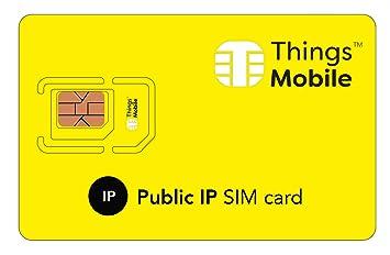 Tarjeta SIM con IP PUBLICA - Things Mobile - con cobertura global y red multioperador GSM/2G/3G/4G, sin costes fijos, sin vencimiento y con tarifas ...