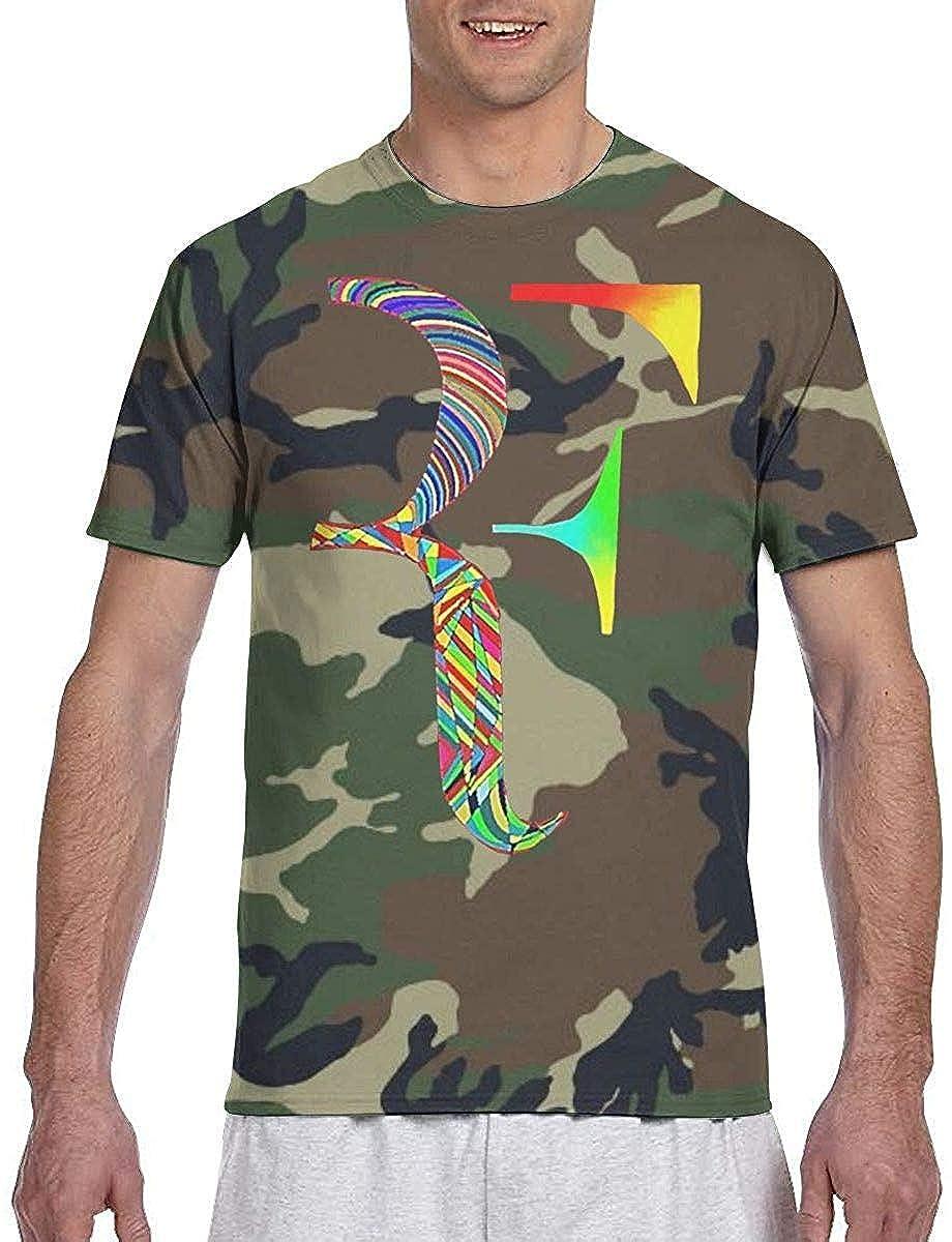 eruerueruruer Roger Federer T-Shirt Mens 3D Camouflage Print Top ...
