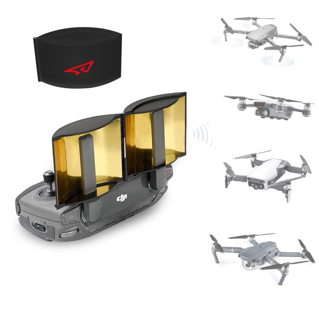 Rcgeek Drone Range Extender Amplificador De Señal Antena Plegable Compatible Con Dji Mavic Pro Mavic 2 Pro / Zoom Mavic