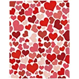 Amor Eterno Be Mine Love Collection Heart Ultra Plush Throw Blanket