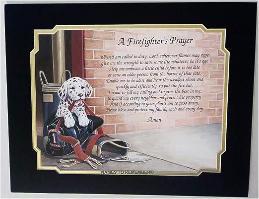 Amazon.com: Oración del bombero regalo para Papá marido hijo ...