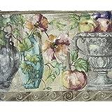 Wallpaper Border - Fruit Flower Pots Wallpaper Border