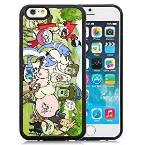 Fashionabale and Unique Iphone 6 Case Design with Regular Show Iphone 6th 4.7 Inch Black TPU Case