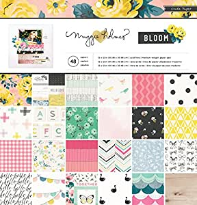 """American Crafts Crate Paper Maggie Holmes Bloom 36 Sheet Paper Pad, 12 by 12"""""""