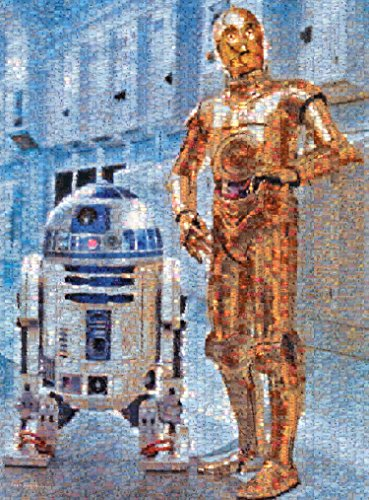 Buffalo Games Star Wars Photomosaic: C 3PO and R2 D2 Jigsaw Bigjigs Puzzle (1000 Piece) by Buffalo Games