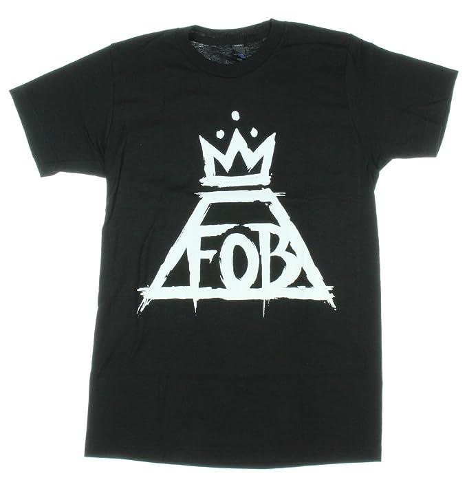 Hot Topic Tema caliente corona de Fall Out Boy Logo camiseta - negro -: Amazon.es: Ropa y accesorios