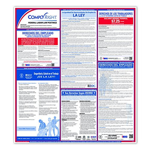 Federal Poster Packs - ComplyRight Federal Labor Law Poster, SPANISH, 24 x 27