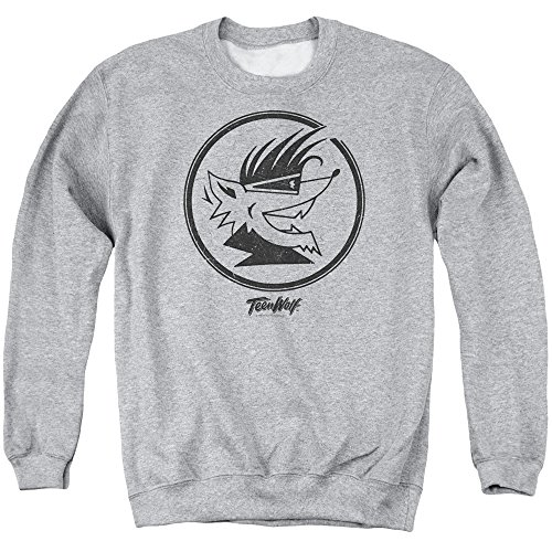 Adults Gray Crewneck Retro Teen Wolf Sweatshirt