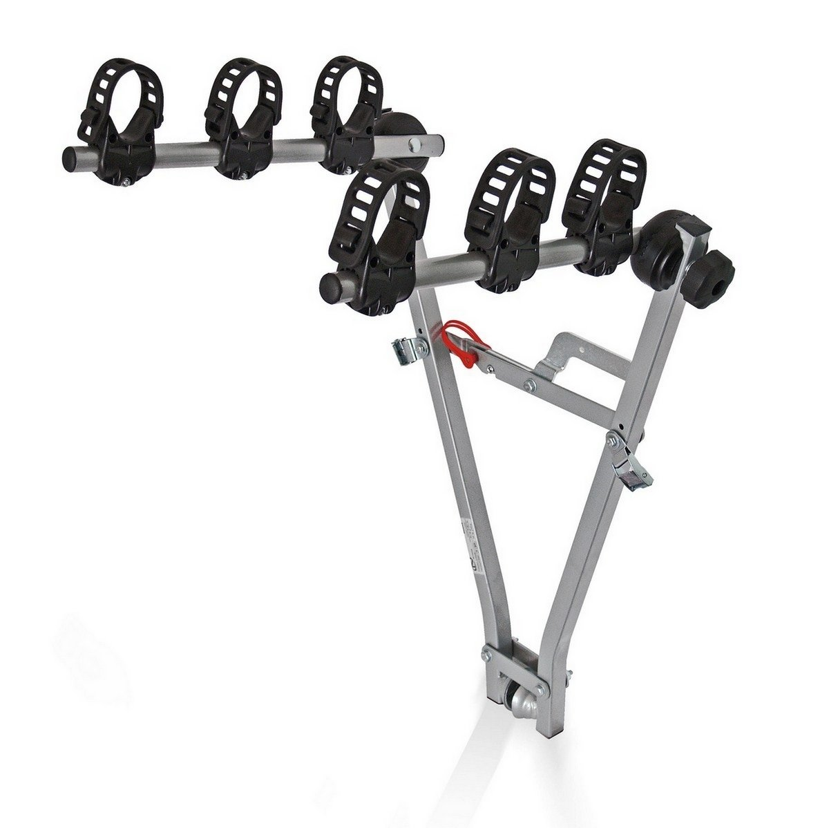Silver//Black Plateado//Negro Menabo 869726G Portabici Enganche Bola 3 Bicicletas