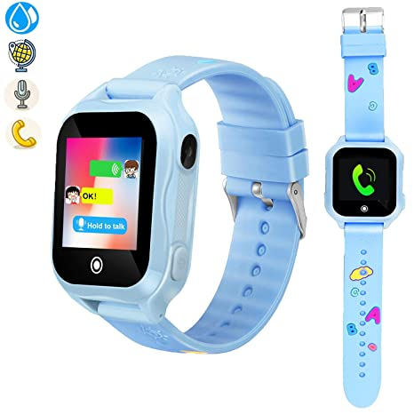 ZOPPRI Kids smartwatch, IP67waterproof Smart Watch for Children Kids Phone Watch, GPS Smart Watch is fit for 3-14 Ages Girls Boy,Smart Watches1.44inch ...