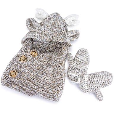 Bonnet d hiver en Laine Wapiti Chapeau d enfants en Laine d hiver ... 64c0d802844
