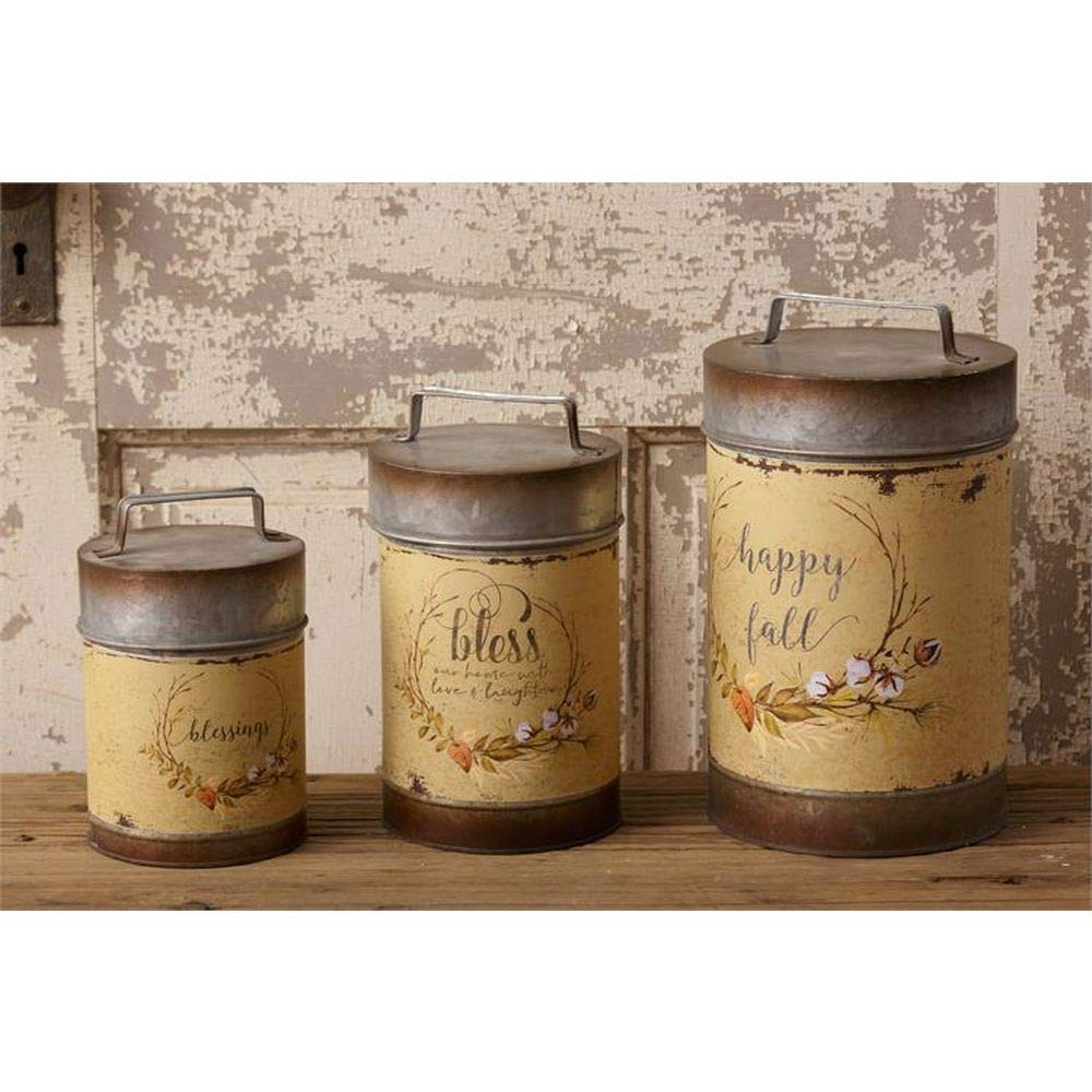 Audrey's Happy Fall Primitive Canisters ~ Set of 3 by Audrey's