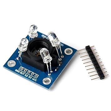 TCS230 Reconocimiento Color TCS3200 Módulo Detector del Sensor Para Arduino MCU: Amazon.es: Electrónica
