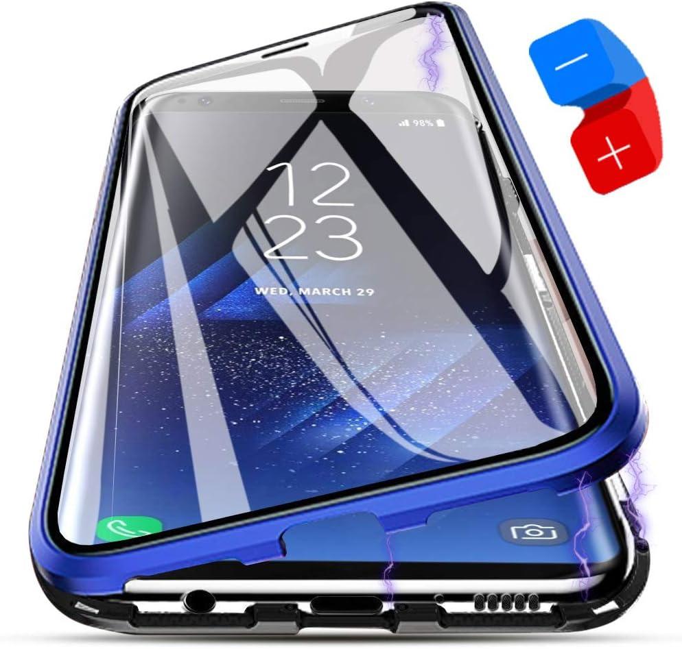 Funda Samsung Galaxy S9 Plus, [Adsorción Magnética] Marco de Metal ...