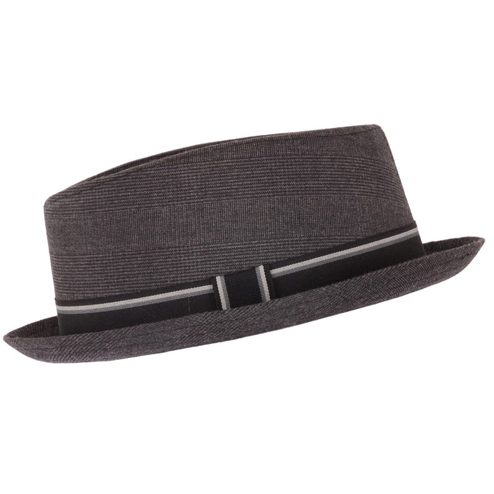 Dark Grey Pork Pie Hat Festival Hat Trilby Fedora, 57