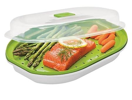 Prepworks pescado y Veggie microondas vapor: Amazon.es: Hogar