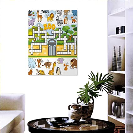 Amazon.com: Word Search Puzzle Modern Wall Art Living Room ...