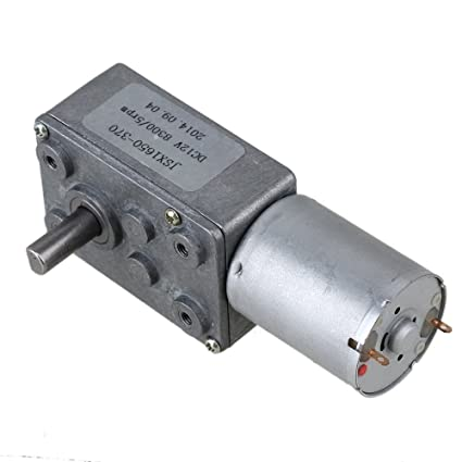 Ewead, 12V 5rpm Worm Turbo Gear Motor Right Angle Gear DC Motor Metal