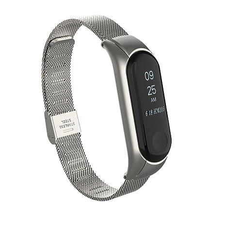 Bracelets de Montre pour Xiaomi Mi Band 3 VNEIRW en Acier Inoxydable ...