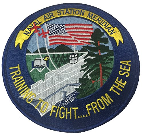 U.S. NAVAL AIR STATION NAS MERIDIAN TRAINING TO FIGHT FROM THE SEA ROUND FLIGHT JACKET PATCH - COLOR - Veteran Owned - Station Training Naval