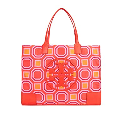 208dfed7fee Amazon.com  Tory Burch Ella Printed Tote-Ballet Pink Octagon Square  Shoes