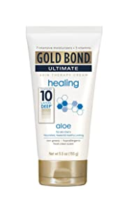 Gold Bond Ultimate Skin Therapy Cream Healing Aloe, 5.5 Ounce Body Cream for Rough, Dry Skin with Aloe