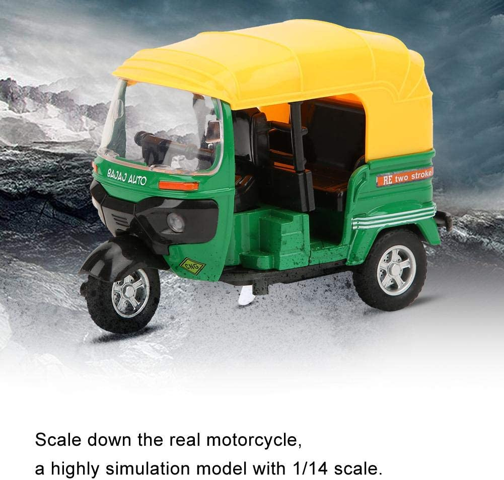 Rosa Tnfeeon Bambini Mini Indian Pull Back Tricycle Scala 1:14 Triciclo Modello di Moto Giocattolo Collezione di Bambini Giocattolo per Auto con Luce e Musica Regalo per Bambini Ragazzi e Ragazze