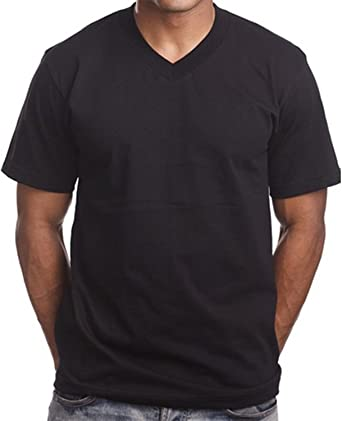 black v neck t shirt mens