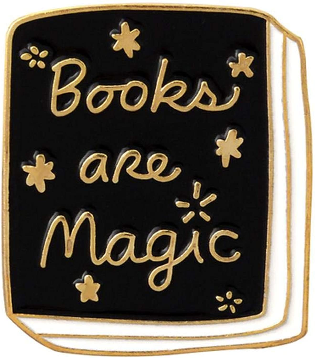 Book Enamel Pin Book Brooches Magic Book Magic Ball Roll of Paper Reading Badges Literary Lapel pins Jewelry Book Brosche